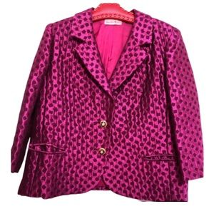60s Brocade Blazer with Gorgeous Buttons😍 10-12